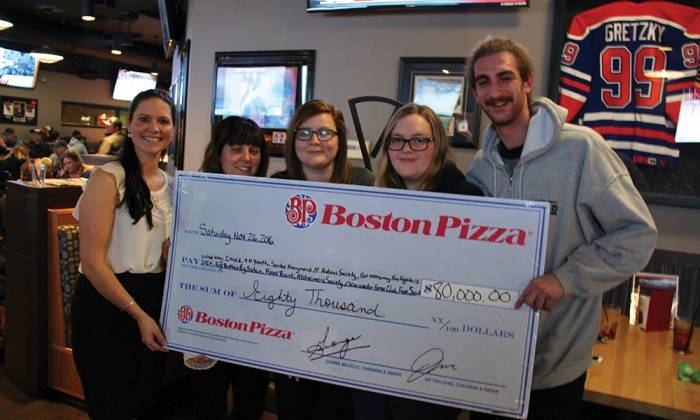 Boston Pizza: Chewing For Charity