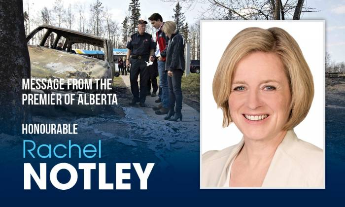 Message from The Premier of Alberta