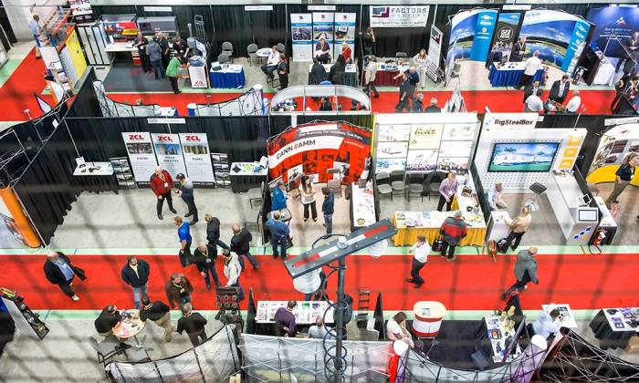 How can attending a trade show enhance your business presence?